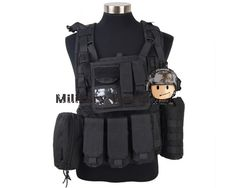 63.19$  Know more  - Airsoft Military Paintball Army Hunting 1000D Tactical Molle RRV Scout Vest High Quality Nylon Vest  Tan/Black/OD/Woodland Camo