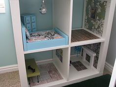 Bookshelf Barbie House...Pull it away from the wall to play..use an old shelving unit..upcycle..