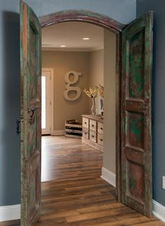 Decorating with shiplap ideas from hgtv 39 s fixer upper for Door upper design