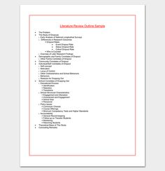 Biography Outline Format  Outline Templates  Create A Perfect