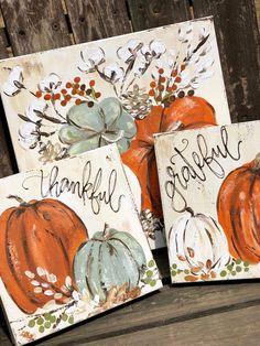Autumn painting - Pumpkin Fall painting Pumpkin Art Fall Decor Haley Bush Art Haley B Designs Autumn Painting, Autumn Art, Painting For Kids, Painting & Drawing, Pumpkin Painting, Fall Paintings, Rock Painting, Christmas Canvas Paintings, Painting Gallery