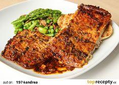Bolen v česnekové marinádě Tandoori Chicken, Steak, Pork, Cooking Recipes, Fish, Ethnic Recipes, Diet, Kale Stir Fry, Cooker Recipes