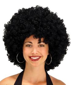 "70S DISCO SUPER 22"" BLACK AFRO WIG PARTY COSTUME DRESS NEW MR179022"