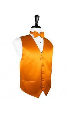 Mandarin Solid Satin Tuxedo Vest