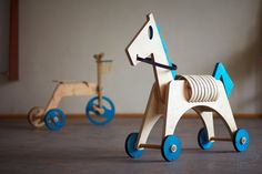 Wooden rocking Horse by ToysDesign on Etsy, €130.00