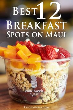 Best 12 Breakfast Spots on Maui Breakfast is the most important meal of the day, and offers some of the best places to get it! Oahu Hawaii, Lahaina Maui, Hawaii Life, Kaanapali Maui, Hawaii Travel Guide, Maui Travel, Croatia Travel, Nightlife Travel, Italy Travel