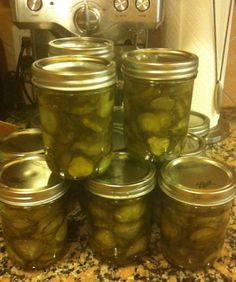 seven day pickle recipe that I think I may need to try. not usually a sweet pick. - seven day pickle recipe that I think I may need to try. not usually a sweet pickle fan but these ar - How To Make Homemade, Food To Make, How To Make Pickles, Pickels, Canning Pickles, Homemade Pickles, Sweet Pickles, Home Canning, Fermented Foods