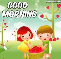 20 Good morning wishes with cartoon images - Happy Wishes