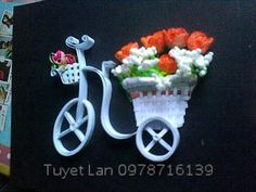 Quilled Bicycle and Flowers - by: Lan Quilling