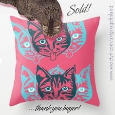 Mollycat Close-up Throw Pillow by artgaragefinland Small Cat, Animal Pillows, Cat Design, Art Market, Pillow Design, Photographic Prints, Cats Of Instagram, Buy Art, Fine Art America