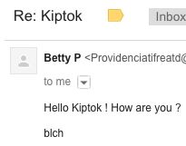 Hello Kiptok ! How are you ?  bIch
