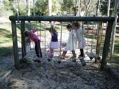 Backyard bridge - how fun!