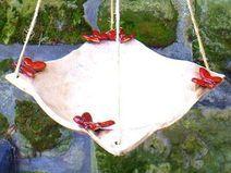 Vogeltränke Schmetterlinge xxl Gartenkeramik