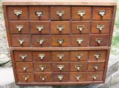 Abbess Oak Wooden Vintage Drawers Tambour Filing Cabinet | EBay | Libraries  U0026 Library Things | Pinterest | Vintage Drawers, Tambour And Drawers