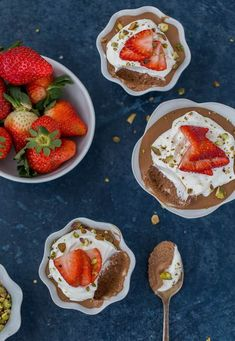 This Chocolate Coffee Mousse with strawberries brings the rich traditional flavor of Folgers Coffee to a silky chocolate mousse for a comforting dessert.