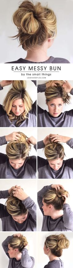 A messy bun is a perfect hairdo for literally any occasion and any season. It is classic and timeless. There are so many types of messy buns, and we will reveal all the secrets and tips how to master it disregarding your hair texture. #hairstyle #messyhairstyles #messybuns #buns