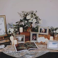 Many people believe that there is a magical formula for home decoration. You do things… Wedding Entrance Table, Wedding Photo Table, Wedding Welcome Table, Sweet Table Wedding, Gift Table Wedding, Wedding Reception Decorations, Wedding Guest Book, Wedding Photos, Table Decorations