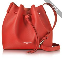 Lancaster Paris Handbags Pur & Element Saffiano Leather Bucket Bag