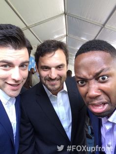 Max Greenfield, Jake Johnson, and Lamorne Morris.
