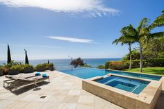 The infinity edge pool gleams with baby blue tiles that match the hue of  the nearbyIf you re about living the resort lifestyle  then the pool  . Pacific Outdoor Living Hawaii. Home Design Ideas