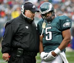 Andy Reid and Donovan McNabb, Eagles  The Eagles and Andy Reid made Donovan McNabb the No. 2 overall pick in the 1999 draft and were rewarded with one of the winningest decades in NFL history. Over the next 10 years, Reid and McNabb combined to win 92 games, but are often remembered for their on-again, off-again relationship. The tandem reached its peak in 2004 when the Eagles advanced to the Super Bowl.
