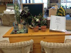 """Our """"Flower Inquiry"""" space allowed children to observe the   life-cycle of fresh bouquets of flowers and how they change"""