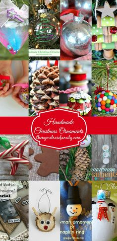 Handmade Christmas Ornaments--so many good ideas in one place!