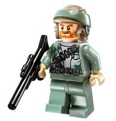Minifigurine d'un soldat Rebel du set 10236 Ewok Village Ultimate Collector Series