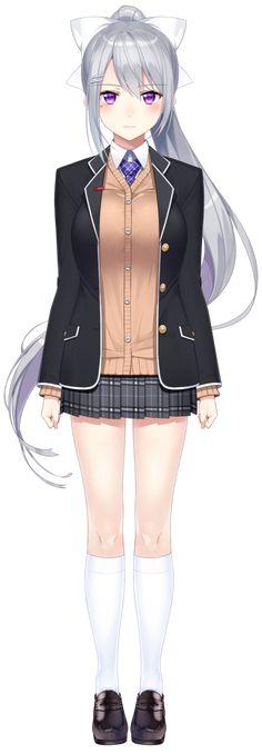 Anime School Girl, Anime Girl Neko, Chica Anime Manga, Anime Art, Anime Girls, Anime Sexy, School Costume, Japanese School Uniform, Female Girl