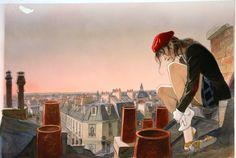 Le VOL DU CORBEAU par Jean-Pierre Gibrat - Couverture originale