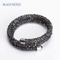 Double  wrap Crystal #Rhinestone Bracelet for Women ten colors to choose from $19.25 Free Shipping