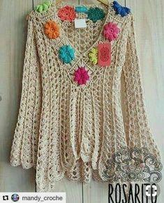 Fabulous Crochet a Little Black Crochet Dress Ideas. Georgeous Crochet a Little Black Crochet Dress Ideas. Crochet Bodycon Dresses, Black Crochet Dress, Crochet Jacket, Crochet Cardigan, Moda Crochet, Pull Crochet, Knit Crochet, Crochet Designs, Crochet Patterns