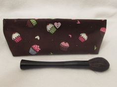 Handmade Makeup Bag Pencil Pouch by TheSweetBeanBoutique, $12.00
