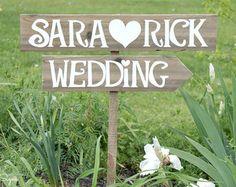 Arrow Wedding Signs, Rustic Wedding Signs, Wood Wedding Signs,Wedding Name Signs, Country Wedding Decor