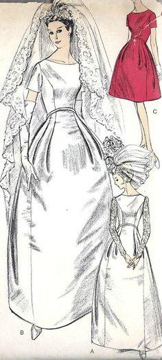 robe mariee annees 60