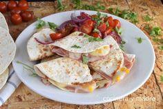 Quesadillas de jamón y queso muy fáciles - Cocinera y Madre