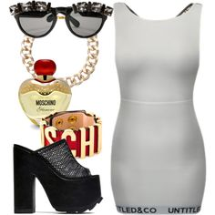 Glitterati by untitledandco on Polyvore featuring Moschino, Untitled & Co and untitledandco