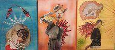 Collagen Bea Dietz - Sushi - la girafe - Transformation Collagen, Sushi, Painting, Art, Sketches, Painting Art, Art Background, Collages, Kunst