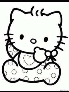 Hello Kitty Baby Coloring Pages - Free Printable Coloring Pages