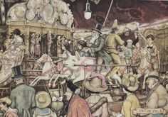 ANTON PIECK - The Merry-Go-Round - PRINT - perfect for framing