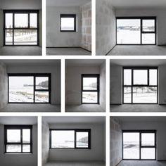 black & white twins by casanova hernandez architects in blaricummermeent, the netherlands Modern Window Design, House Window Design, Door Gate Design, Modern Windows, House Design, Aluminum Windows Design, Aluminium Windows And Doors, Architecture Design, House Windows