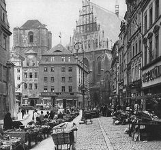 Farmers' Market Nysa, 1925-1944, now in Poland...like another planet.