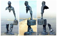 """""""Please be a traveler, not a tourist. Try new things, meet new people, and look beyond what's right in front of you. Those are the keys to understanding this amazing world we live in."""" - Andrew Zimmern #NoteToSelf  sculpture by Bruno Catalano"""