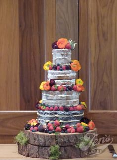 Another naked cake - this one at Le Manoir Aux Quat Saisons.