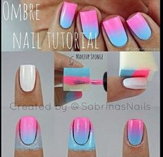 Ombre nails need: makeup sponge