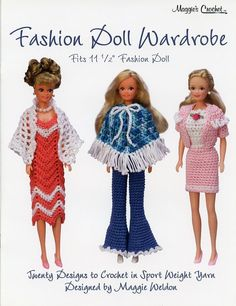 Fashion Doll Wardrobe 20 Designs Crochet Pattern For Barbie 30 Days To Pay!