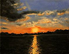 Savannah Sunset,  Joseph Ebberwein Art
