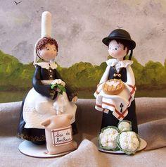 Couple Breton en pâte polymère CERNIT