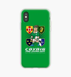 I phone case with a design prepared for Irish rugby team getting ready to take part in Rugby World Cup Japan 2019 Irish Rugby Team, Ireland Rugby, Rugby World Cup, Iphone Cases, Football, Japan, Activities, Design, Soccer