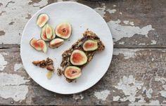 Nourishing Nut & Seed Bread, gluten free bread recipe, vegan bread recipe, nut butter, honey, figs